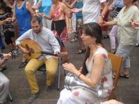 Laura und Musiker