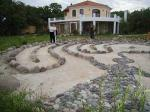 Lesbos Haus und Labyrinth